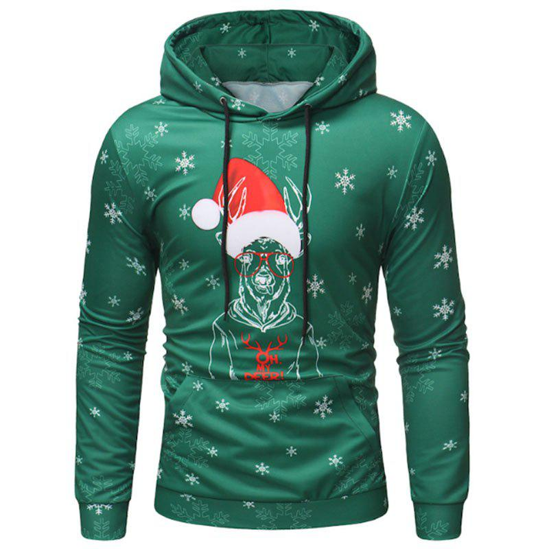 Unique Christmas Men's Long Sleeved Hooded Sweater Fashion Hoodies
