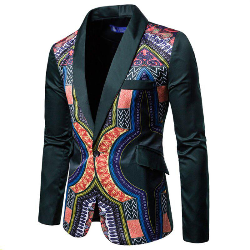 Hot Men Fashion Printed Colorful Balzer National Style Men's Suit