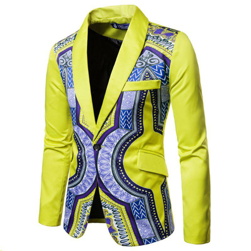 Fashion Men Fashion Printed Colorful Balzer National Style Men's Suit