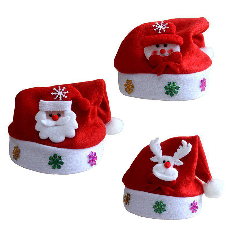 New 3Pcs New Christmas Hat with Snowman Santa Claus and Deer For Kids and Adults