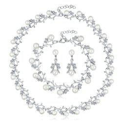 New Personality Pearl Necklace 3 Piece Set-C -