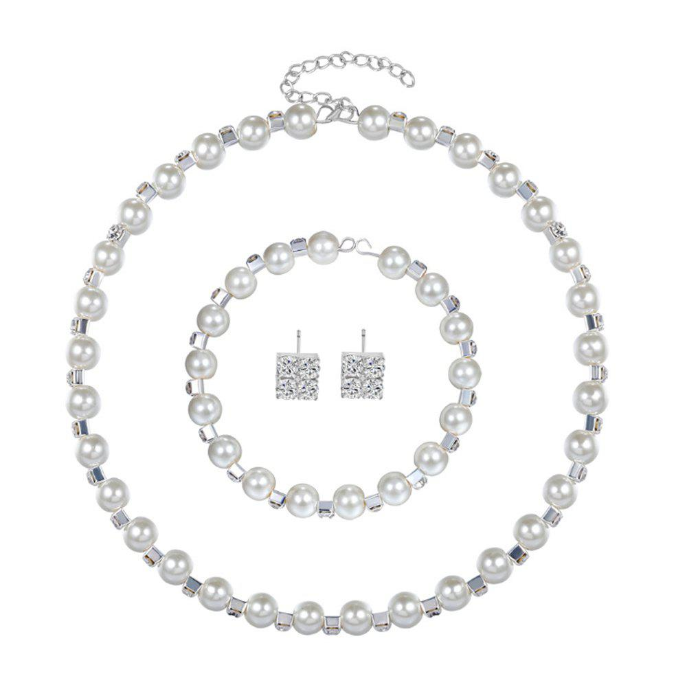 Buy New Fashion Pearl Necklace 3 Piece Set