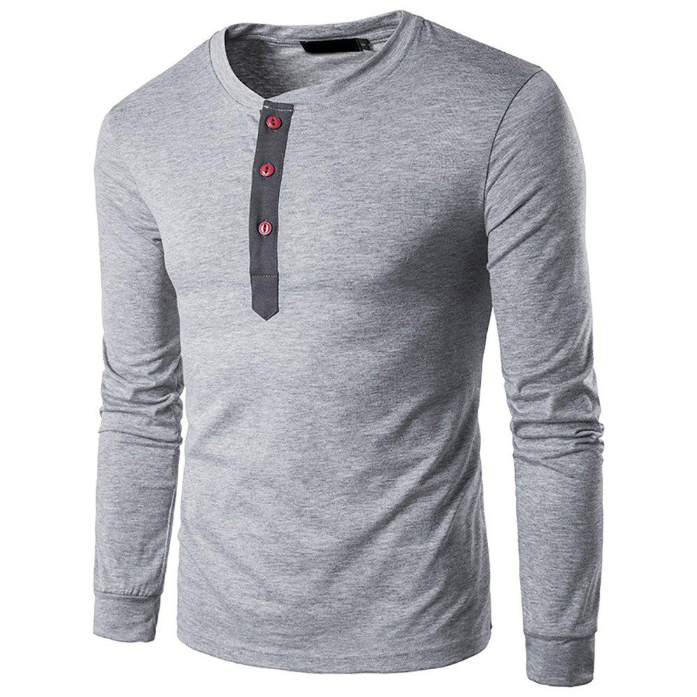 Outfits Spring   Long Sleeve T Shirt Men Trend Casual Mens  White T Shirts Tops 3XL