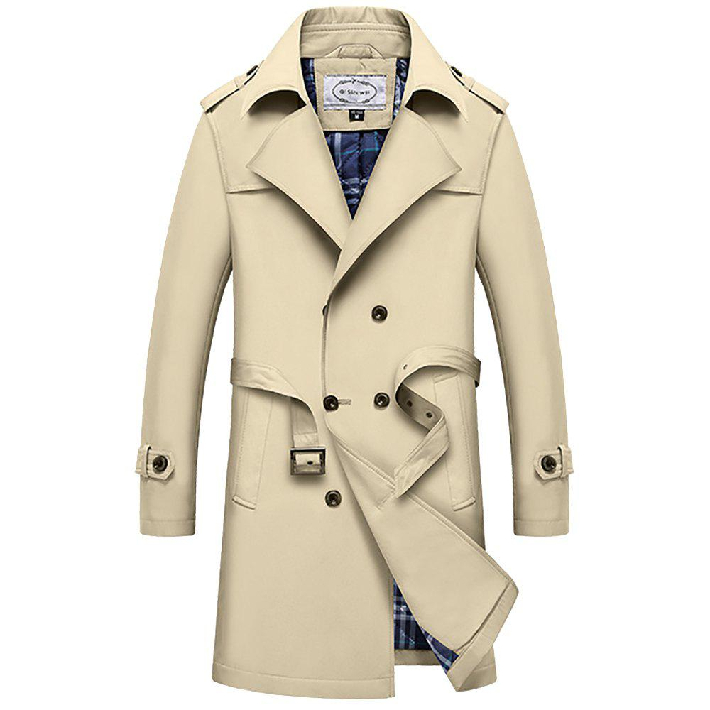Cheap Winter Men Cotton Upset Single Breasted Lapel Turn-Down Long Wind Coat