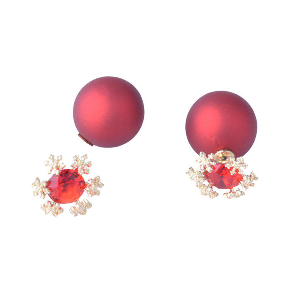 Outfit Fashion Alloy Snow Earrings