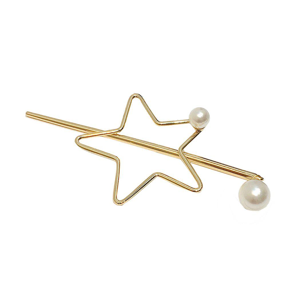 Trendy Fashion Five-Pointed Star Love Hairpin