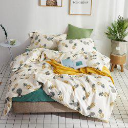 40 Combed Cotton Bedding Sets Pineapple Standard Set -