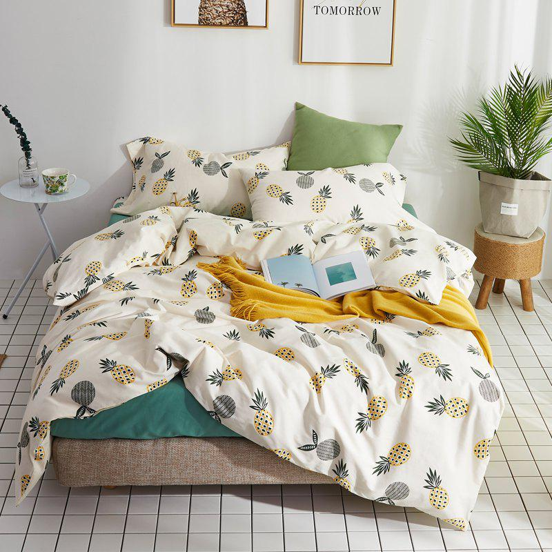 Shop 40 Combed Cotton Bedding Sets Pineapple Standard Set