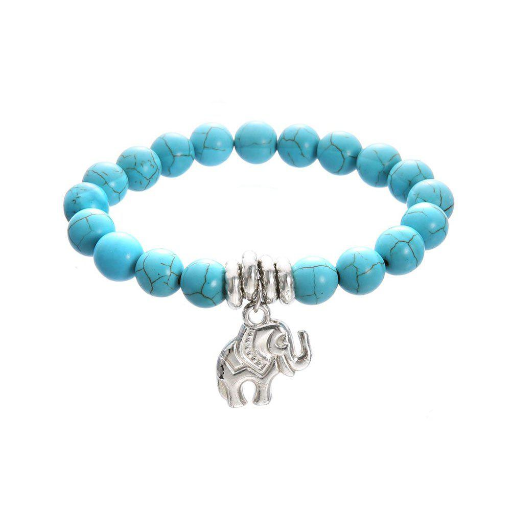 Shop Women's Anklet Chain Turquoise Metal Elephant Decoration Chain