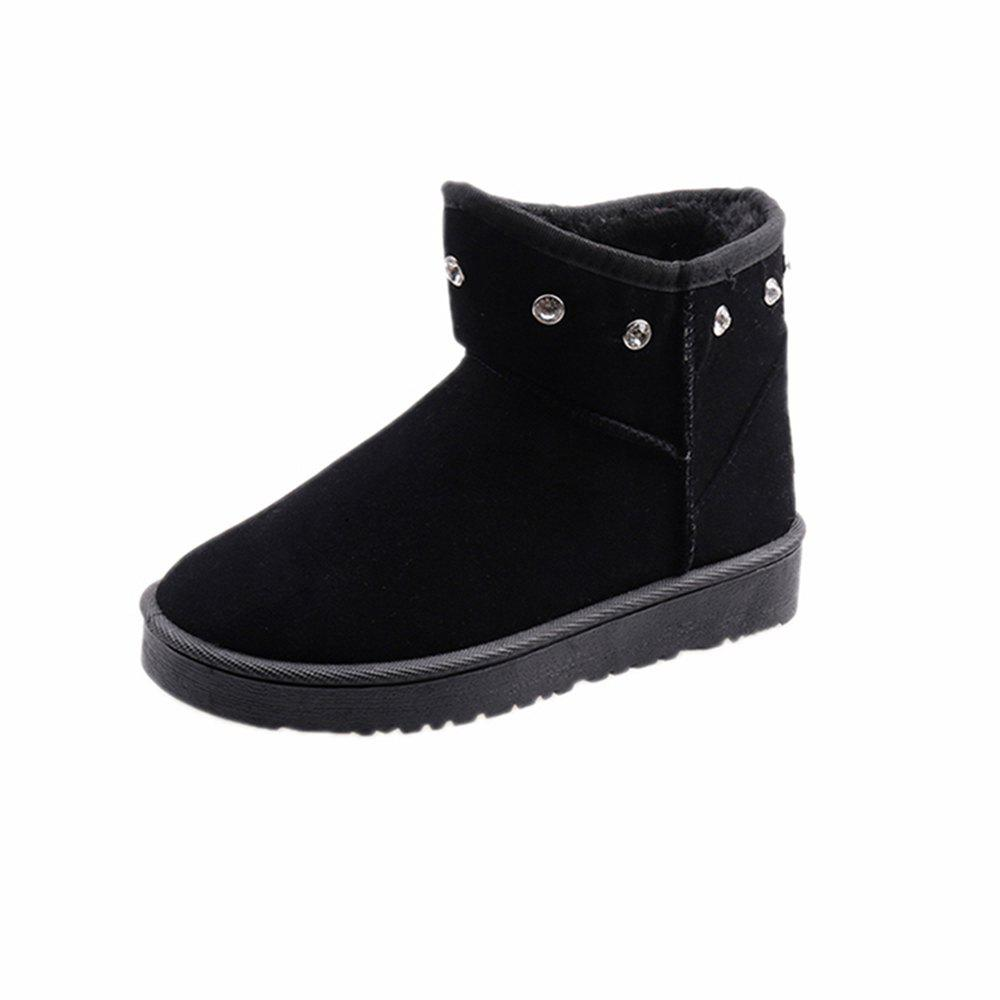 Store Autumn and Winter New Thick Snow Boots Nubuck Leather Boots Warm Flat Women'S Bo
