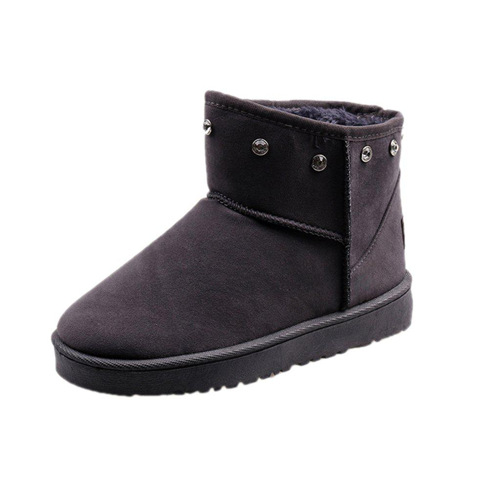 Discount Autumn and Winter New Thick Snow Boots Nubuck Leather Boots Warm Flat Women'S Bo