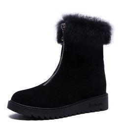 Cotton Shoes Women'S Winter Version of  Flat Cotton Boots Student -