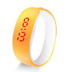Animation montre masculine de mouvement de dauphin LED de mouvement de bracelet de LED -
