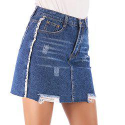 Women'S Skirt Frayed Hem Casual Slim Skirt -