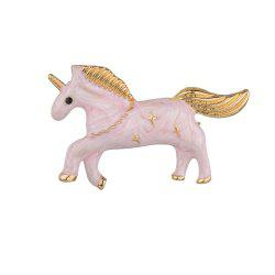 Broche Licorne Rose Blanche Fashion -