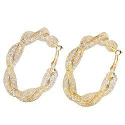 Gold Exaggerated Oversized Circle Earrings -