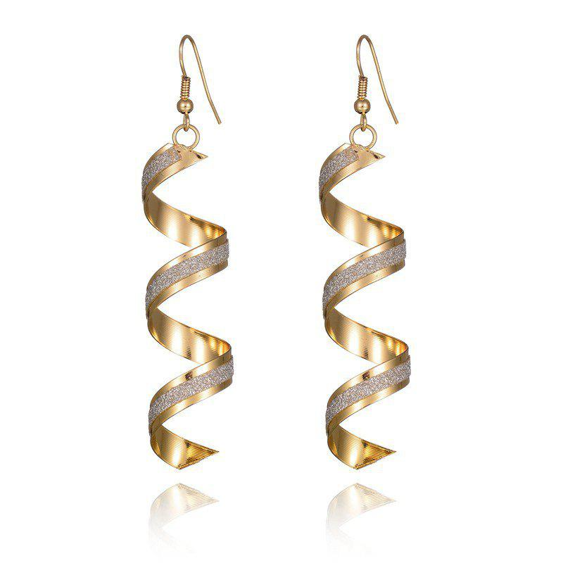 Unique Gold Spiral Geometric Earrings