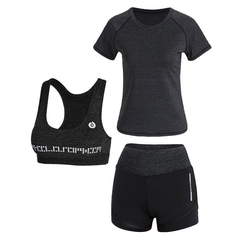 Unique Sports Slim Casual High Waist Women's Yoga Wear Three-Piece Set