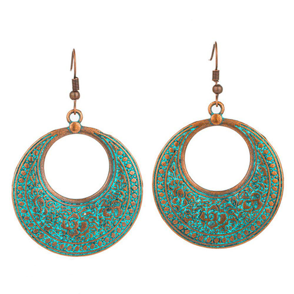 Latest Round Vintage Antique Ethnic Drop Dangle Earrings Jewellery Gift for Women Girls