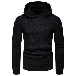 2018 Winter Men'S Solid Color Hooded Pullover Sweater Sweater Coat -