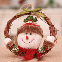YEDUO  Christmas Wreath Wood For Home Santa Snowman -