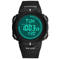 PANARS Men Outdoor Sport Digital with Compass LED Electronic Chronograph Watches -
