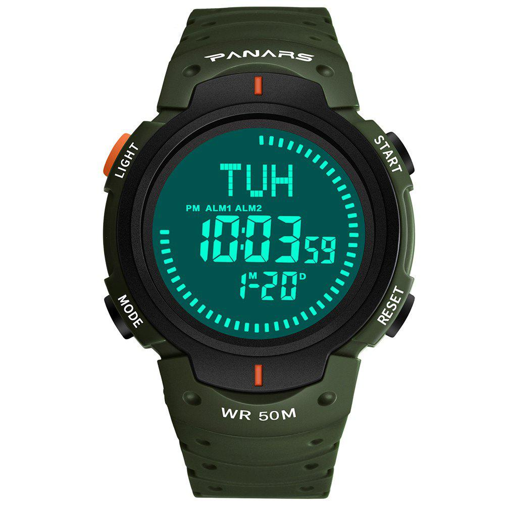 Latest PANARS Men Outdoor Sport Digital with Compass LED Electronic Chronograph Watches