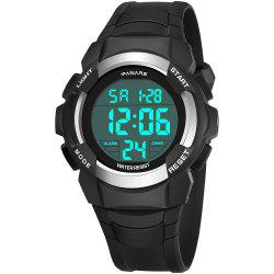 PANARS Men Digital Sports Count Down Timer Alarm Clock LED Chronograph Watches -