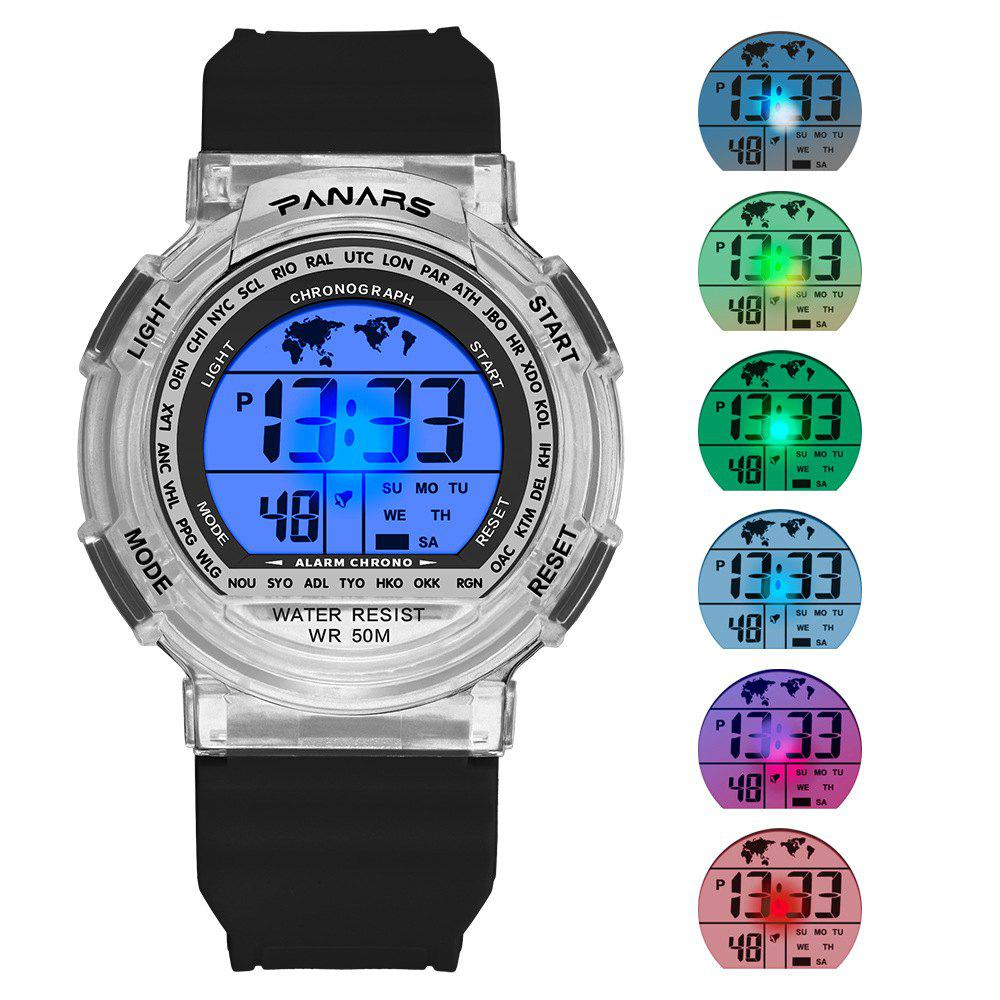 Chic PANARS Mens Sport Multi-Function Noctilucent Waterproof Colorful Watch