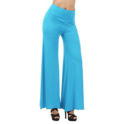 Women's Fashion Slim High Waist Wide Leg Multicolor Trousers -