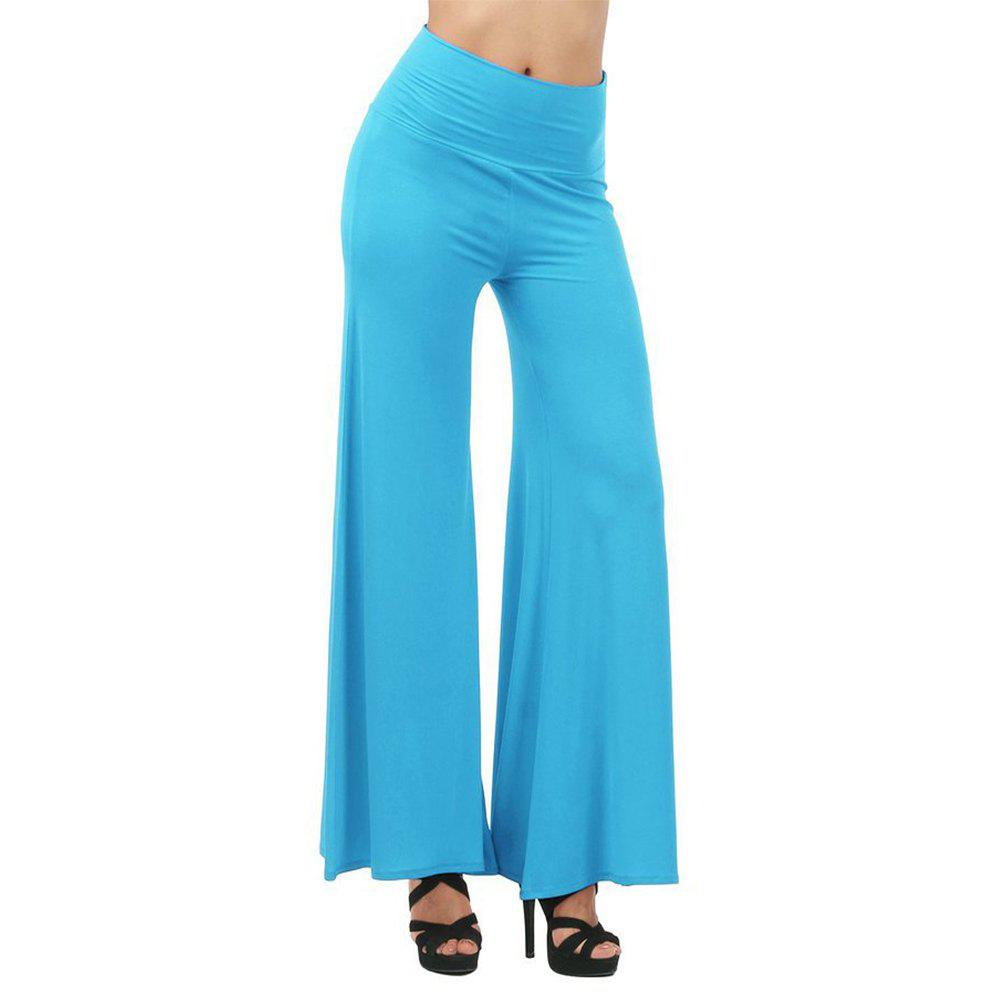 Unique Women's Fashion Slim High Waist Wide Leg Multicolor Trousers