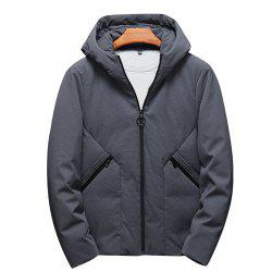 Men's Fashion Casual Style Windproof Warm and Comfortable Down Long Coat -