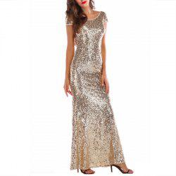 Elegant Women's Sequined Dress Fashion Sexy Backless Dress -