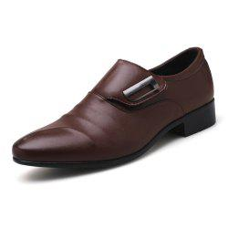Men Plus Size Leisure Slip on Leather Shoes -