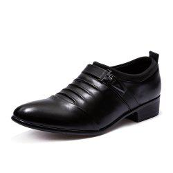 Men Solid Casual Slip on Fashion Leather Shoes -