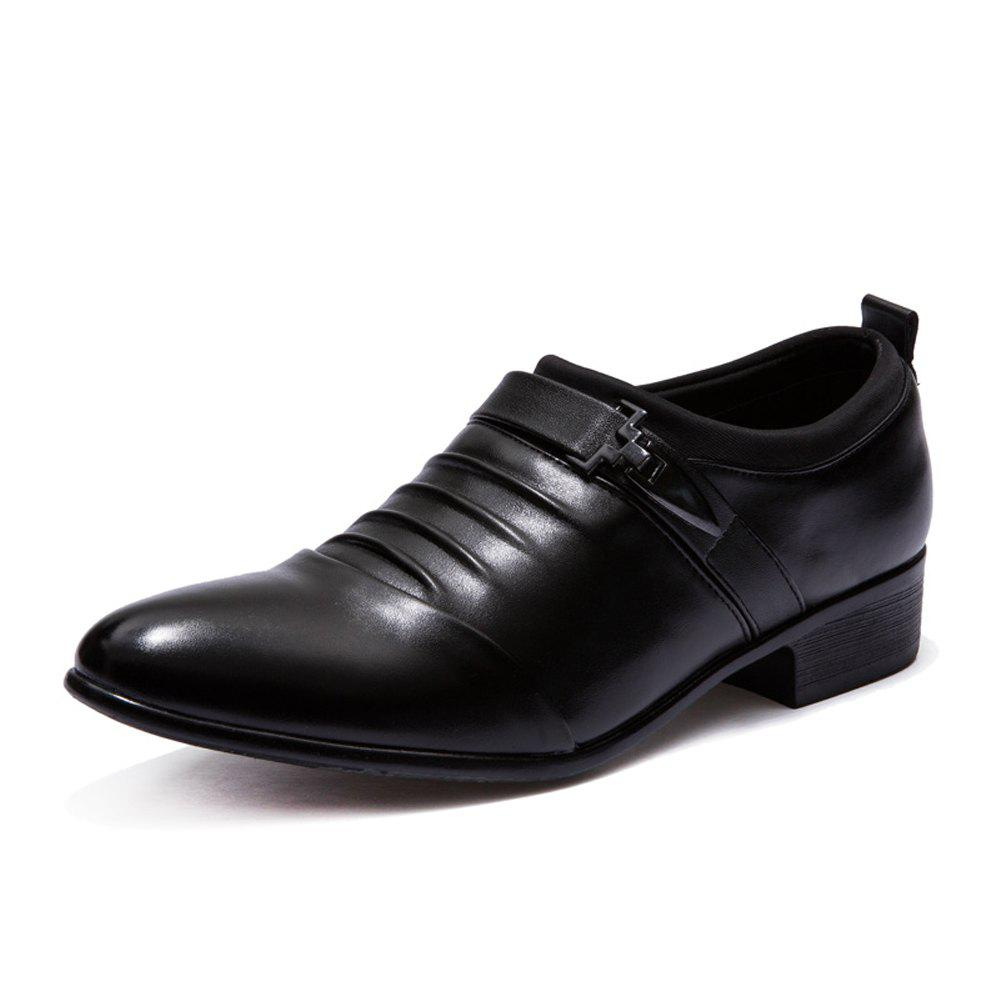 Shops Men Solid Casual Slip on Fashion Leather Shoes