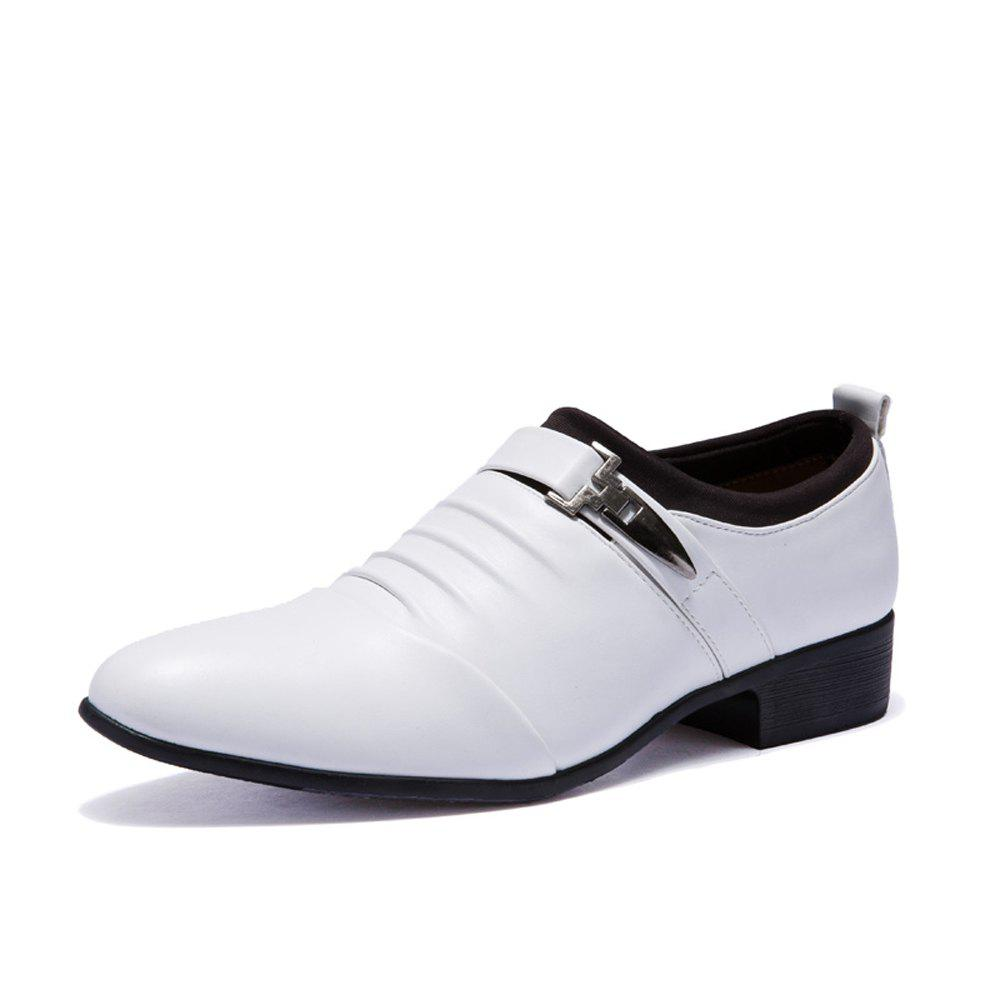 Cheap Men Solid Casual Slip on Fashion Leather Shoes