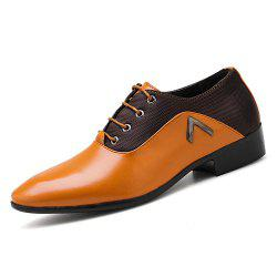 Men Casual Lace Up Gentle Fashion Leather Shoes -