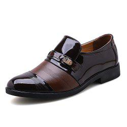 Hommes Plus Size Slip on Leisure Leather Leather Shoes -