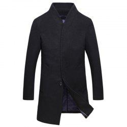 New Men Fashion Slim Full Sleeve Stand Collar Long Coat Casual Outwear -