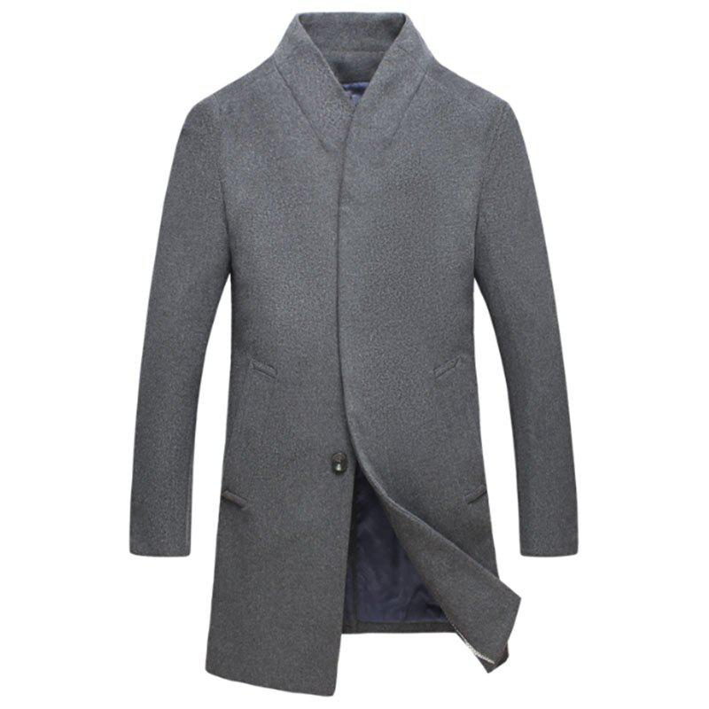 Outfits New Men Fashion Slim Full Sleeve Stand Collar Long Coat Casual Outwear