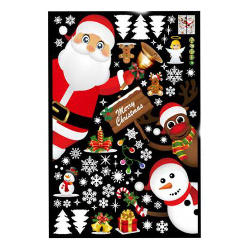 Doors and Windows Accessories Store Window Glass Christmas Scene Decorate Wall S