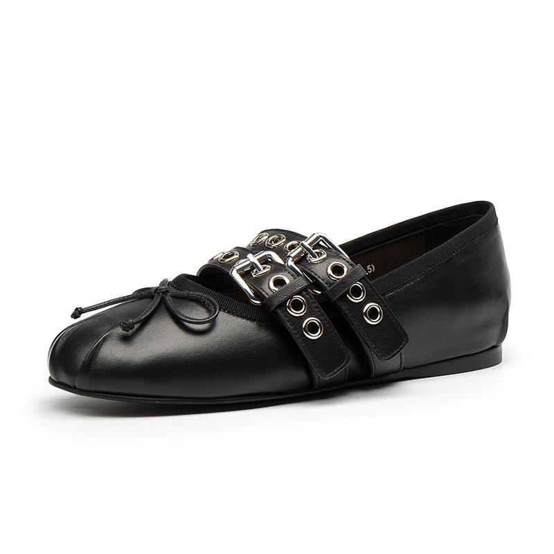 22c8eb2c12 34 Off Bow Tie Lace Ballerina Flats With Round Ends For Women S. Milesline  Fashion Vine Womens Small Bowtie