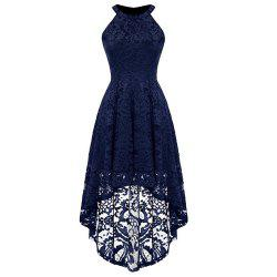 Women's Lace Neck Sleeveless Dress -