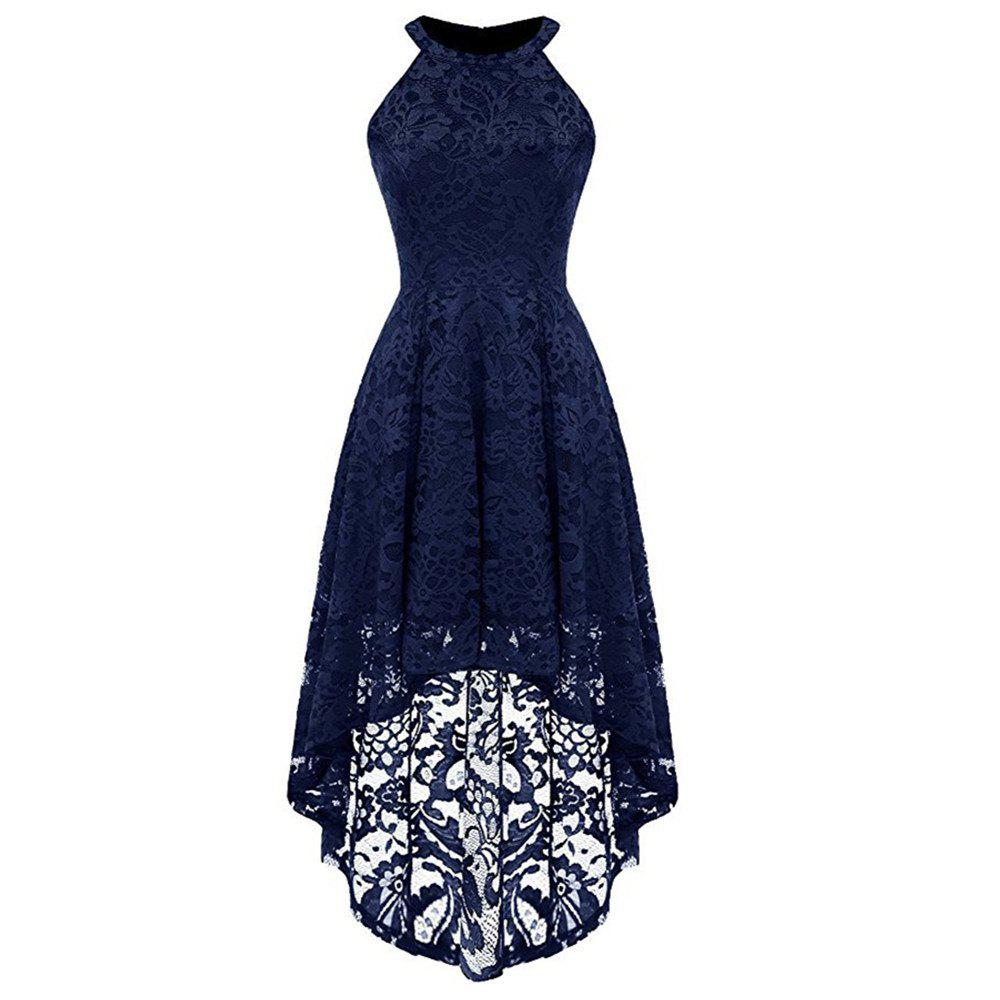 Buy Women's Lace Neck Sleeveless Dress