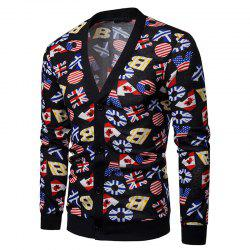 Color Patchwork Men's Sweater Cardigan -