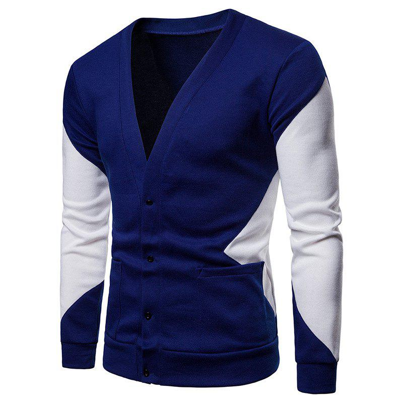 Cardigan Homme Couleur Patchwork Multi-B S
