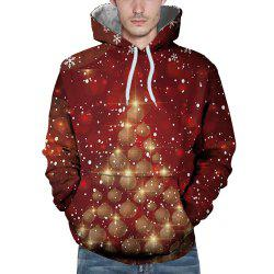 3D Winter Sports Snowflake Christmas Ball Print Mens Hoodie -