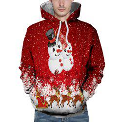 3D Winter Sports Christmas Doll Print Mens Hoodie -