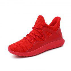 Men Flying Woven Mesh Lightweight Breathable Casual Sports Running Shoes -